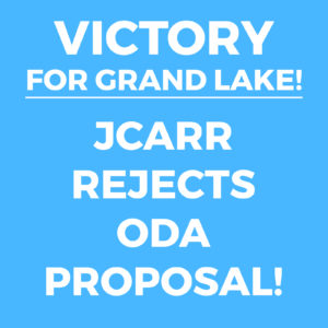 JCARR Rejects ODA Proposal - Big Win for Grand Lake St. Marys