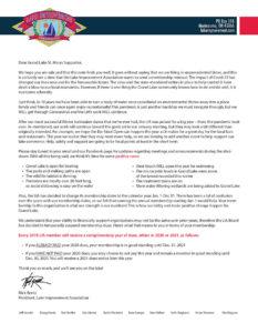 LIA Changing Membership Calendar & Temporarily Suspending Dues